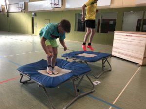 ...steht Skigymnastik auf dem Programm!